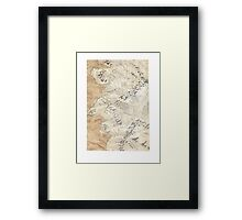 Lord Of The Rings Map - Hand Drawn Framed Print