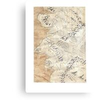 Lord Of The Rings Map - Hand Drawn Canvas Print