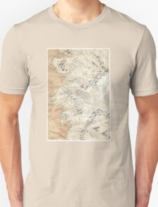 Lord Of The Rings Map - Hand Drawn T-Shirt