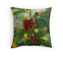 Red Fairy Duster Throw Pillow