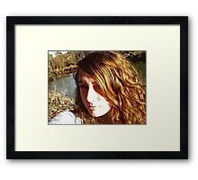 At the Creek Framed Print