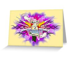 Science to the Max -Tattoo Style Greeting Card
