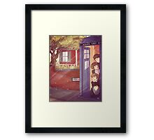 A trip in the TARDIS Framed Print
