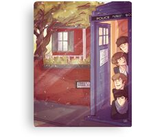 A trip in the TARDIS Canvas Print