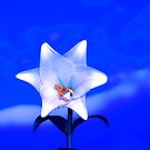 Lilies in blue ' two ' by Neophytos