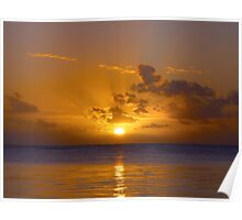 Sunset Mauritius Poster
