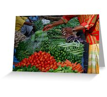 Freshning Up Veges Greeting Card
