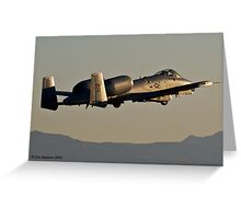 A-10 into the Sunset Greeting Card
