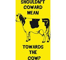 Funny Farm Coward Defintion Photographic Print