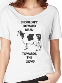 Funny Farm Coward Defintion Women's Relaxed Fit T-Shirt