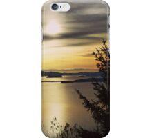Sunset on Washingtons coast iPhone Case/Skin