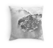 Frost on Leaf Throw Pillow