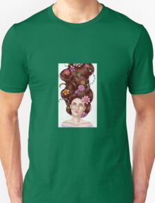 Girl with flowers in her hair  Unisex T-Shirt