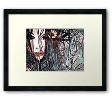 Wild Girl - Drypoint Etching Print Framed Print
