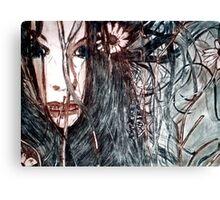 Wild Girl - Drypoint Etching Print Canvas Print