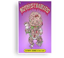 GPK Autopsy Zombie Staple Baby Canvas Print