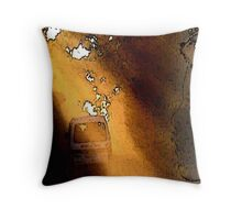 Schoolbus and Schoolboy Throw Pillow