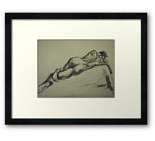David reclining Framed Print