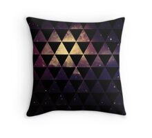 Geometric Space Triangles Throw Pillow