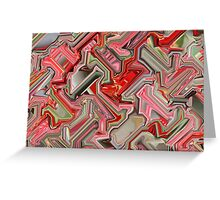 Red and Pink Cube  Greeting Card