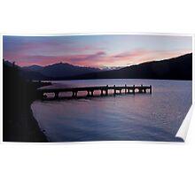 Lake Kaniere at dusk Poster