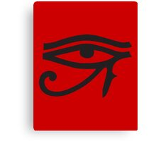 Eye of Horus Red Canvas Print