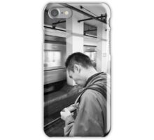 Level-up on the subway, Tokyo, Japan iPhone Case/Skin