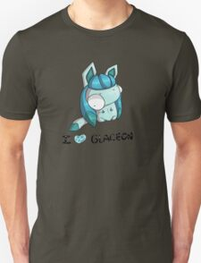 I Love Glaceon clothes, stickers, pillows and more! T-Shirt