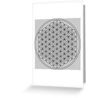 Flower of Life Gray Greeting Card
