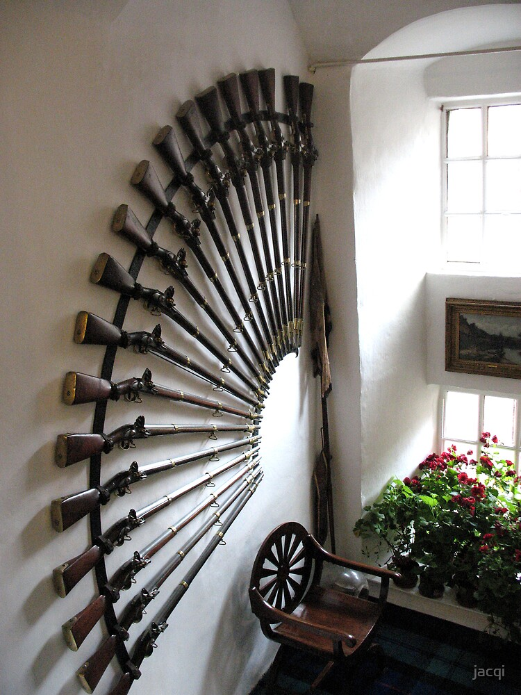 Gun Display, Cawdor Castle , Scotland by jacqi