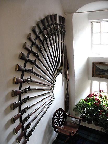 Gun Display, Cawdor Castle , Scotland by jacqi