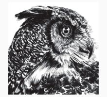 Great Horned Owl Kids Tee