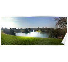 Light on Blenheim Palace lake. Poster