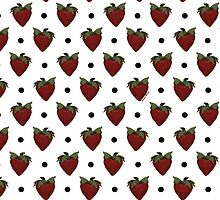 Strawberries and Black Polka Dots by StudioBlack