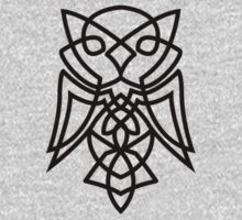Knotted Owl (black) Kids Clothes