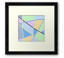 soft colors, yellow, pink, blue, green, grey. Framed Print