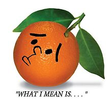 Karl Pilkington, orange by Riccivela