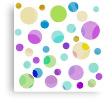 pretty, colorful graphic balls.pink, blue, yellow, green, blue Canvas Print