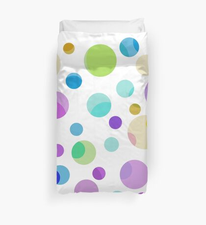 pretty, colorful graphic balls.pink, blue, yellow, green, blue Duvet Cover