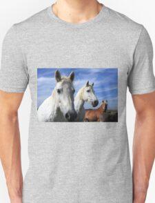 White Camargue Horses Unisex T-Shirt