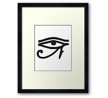 Eye of Horus White Framed Print