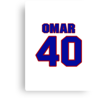 National baseball player Omar Olivares jersey 40 Canvas Print