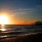 Brighton beach by Di Dowsett