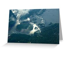 Iguassu Falls Brazil. Greeting Card
