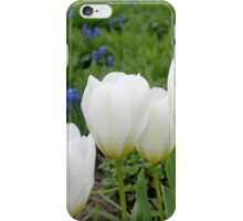 Four White Tulips iPhone Case/Skin