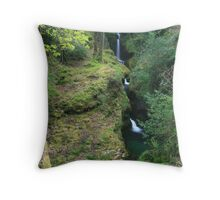 Glendalough Waterfall Throw Pillow