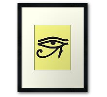 Eye of Horus Lemon Framed Print
