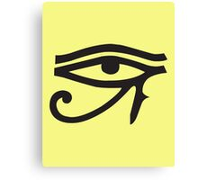 Eye of Horus Lemon Canvas Print
