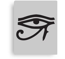 Eye of Horus Grey Canvas Print