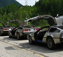 Holy Deloreans, Batman! by fortuitous